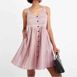 Madewell. Rainbow stripe scoop neck tank dress